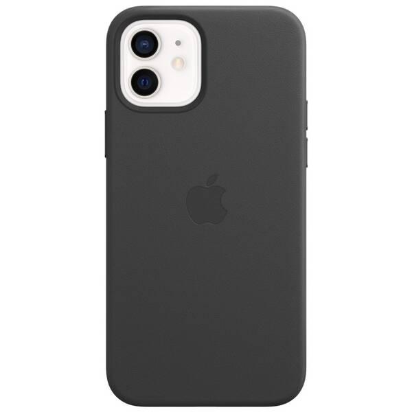 Kryt na mobil Apple Leather Case s MagSafe pre iPhone 12 a 12 Pro - čierny (MHKG3ZM/A)