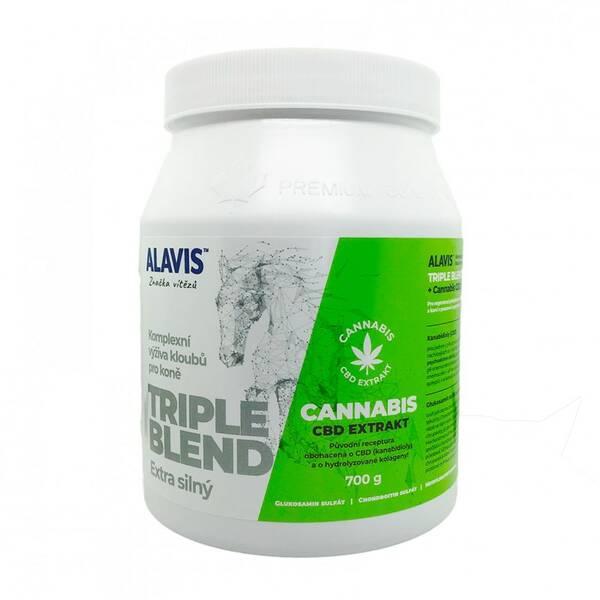 Prášok Alavis Triple Blend Extra silný + Cannabis CBD extrakt
