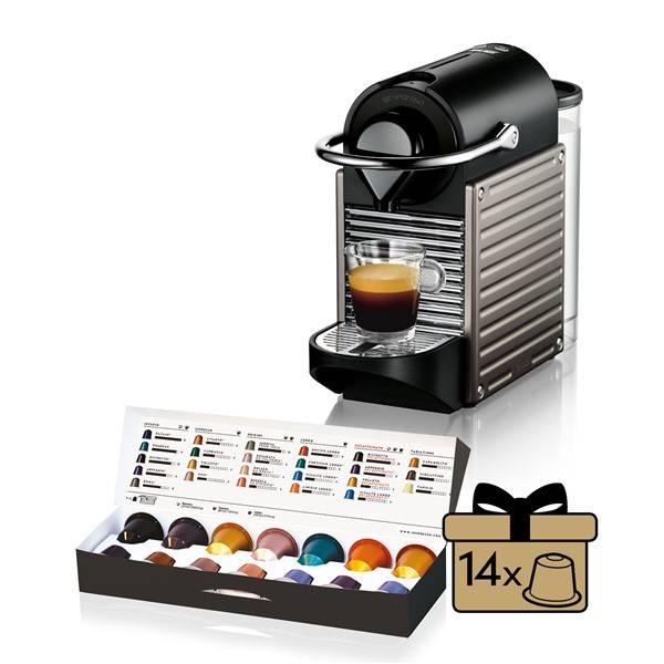 Espresso Krups Nespresso Pixie XN3005 černé/šedé