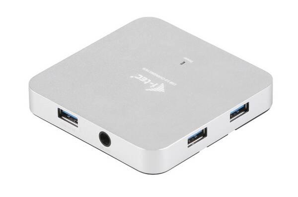 USB Hub i-tec USB 3.0 / 4x USB 3.0 (U3HUBMETAL4) stříbrný