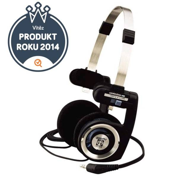 Sluchátka Koss PORTA PRO I (doživotní záruka) černá/stříbrná (vrácené zboží 8800322251)