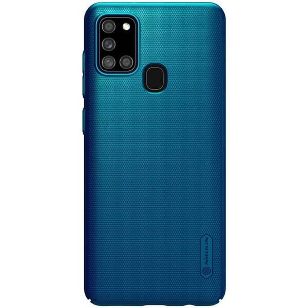 Kryt na mobil Nillkin Super Frosted na Samsung Galaxy A21s modrý