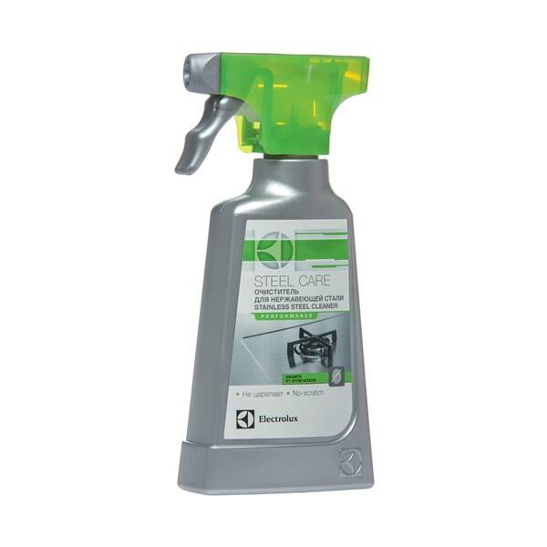 Čisticí přípravek Electrolux Čistič nerezových povrchů spotřebičů 250ml spray (Náhradní obal / Silně deformovaný obal 2100006735)
