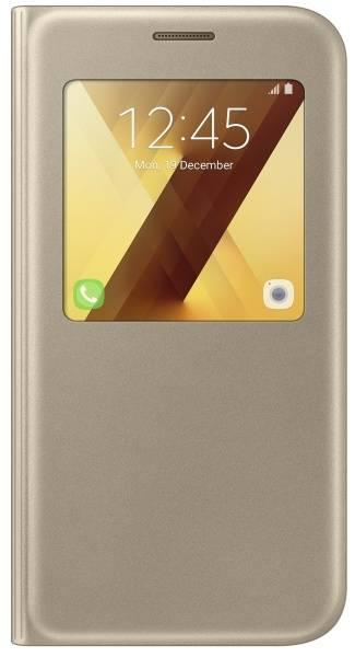 Pouzdro na mobil flipové Samsung S-View pro Galaxy A5 2017 (EF-CA520PFEGWW) zlaté (vrácené zboží 8800290430)