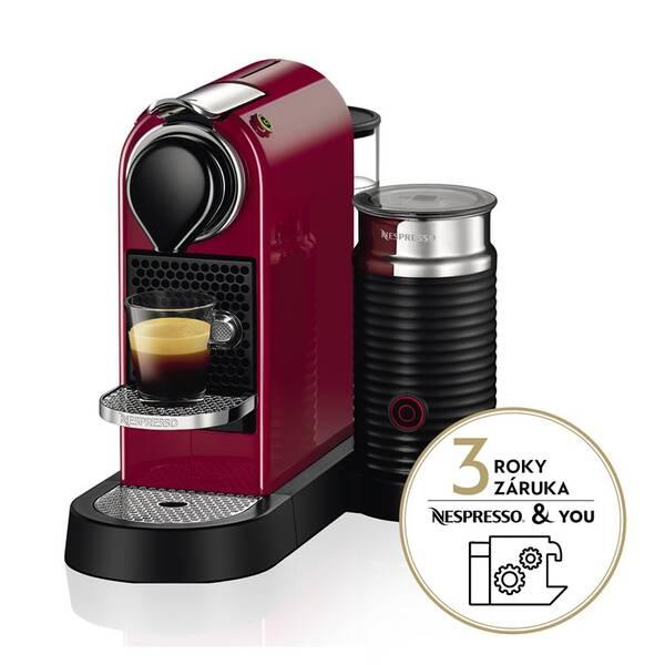 Espresso Krups Nespresso Citiz&Milk XN760510 červené