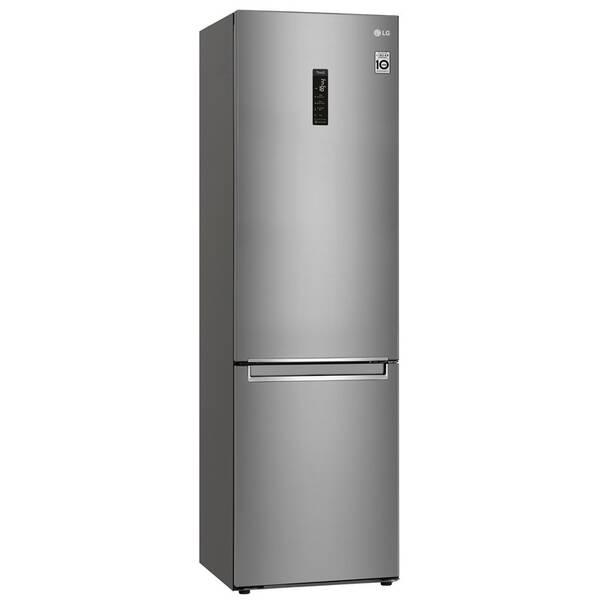 Kombinácia chladničky s mrazničkou LG GBB72SAUCN strieborná