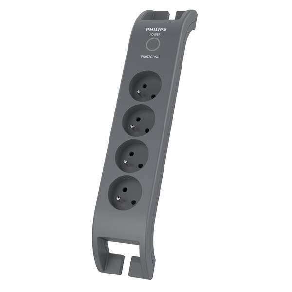 Prepäťová ochrana Philips SPN3140A/60 4x zásuvka, 2m (Phil-SPN3140A/60) sivá