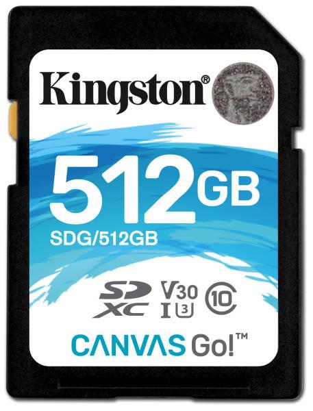 Paměťová karta Kingston Canvas Go! SDXC 512GB UHS-I U3 (90R/45W) (SDG/512GB)