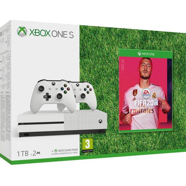 Herní konzole Microsoft Xbox One S 1 TB + ovladač + FIFA 20 (234-00607)
