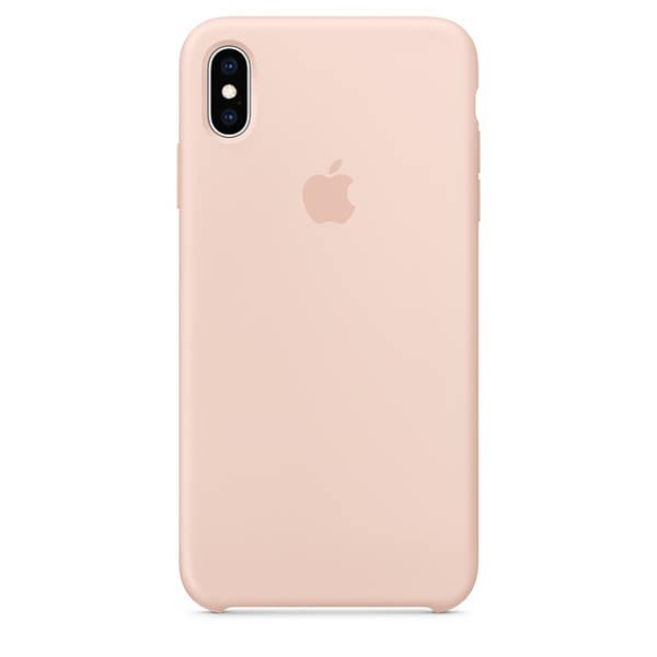 Kryt na mobil Apple Silicone Case na iPhone Xs Max - pískově růžový (MTFD2ZM/A)