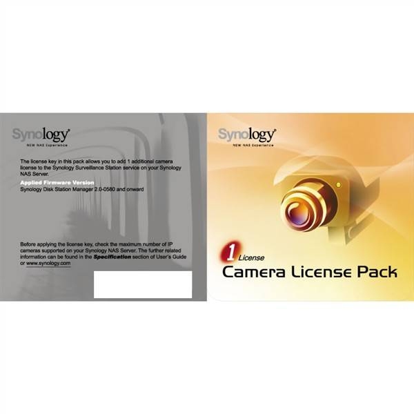 Software Synology License Pack x 1 (License Pack 1)