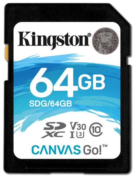 Paměťová karta Kingston Canvas Go! SDXC 64GB UHS-I U3 (90R/45W) (SDG/64GB)