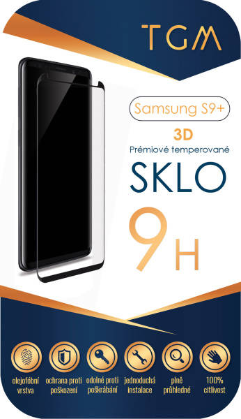Ochranné sklo TGM 3D pro Samsung Galaxy S9 Plus (TGMSGS9P) průhledné