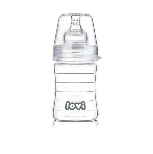 Kojenecká láhev LOVI Diamond Glass 150ml čirá