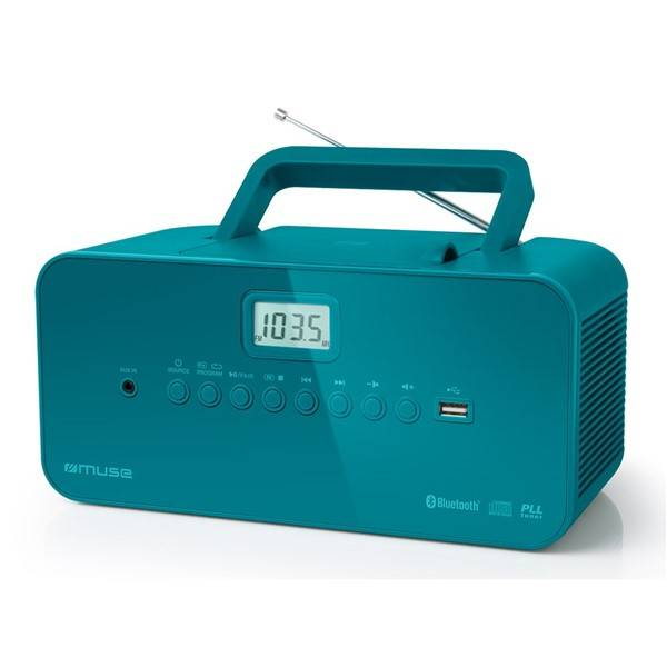 Radiopřijímač s CD MUSE M-30BTB modrý