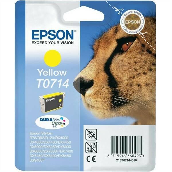 Inkoustová náplň Epson T0714 (C13T07144011) žlutá