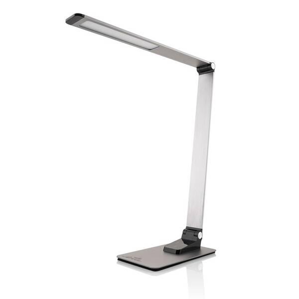Stolní LED lampička ETA 489290000 stmívatelná, USB port, 9W (ETA489290000) šedá