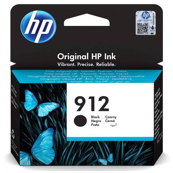 Inkoustová náplň HP 912, 300 stran (3YL80AE) černá