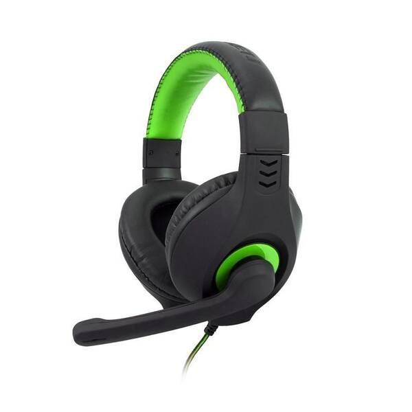 Headset C-Tech Nemesis V2 (GHS-14G) (GHS-14G) černý/zelený (vrácené zboží 8800306172)