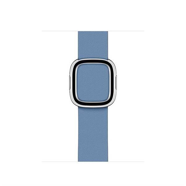 Řemínek Apple Watch 40mm chrpově modrý řemínek s moderní přezkou – střední (MV6N2ZM/A)