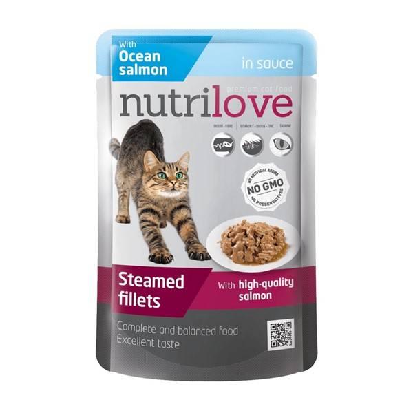 Kapsička Nutrilove Cat pouch Salmon gravy 85 g