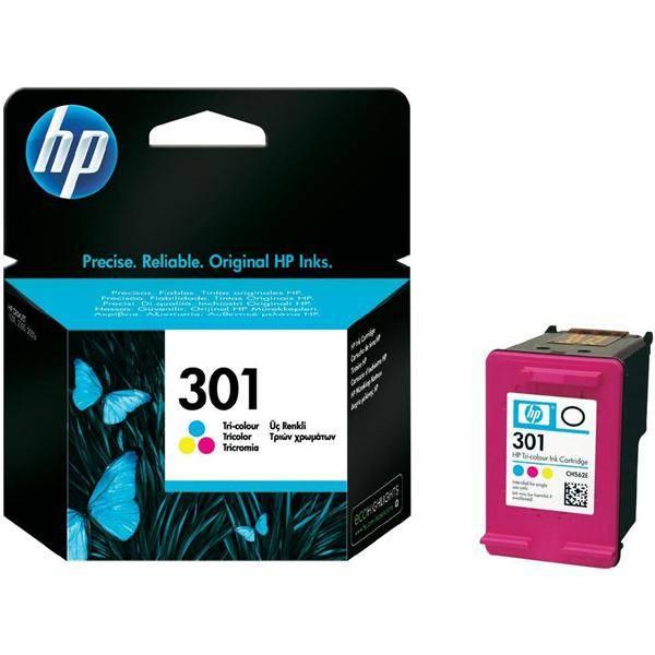 Inkoustová náplň HP No. 301, 165 stran - originální (CH562EE) červená/modrá/žlutá