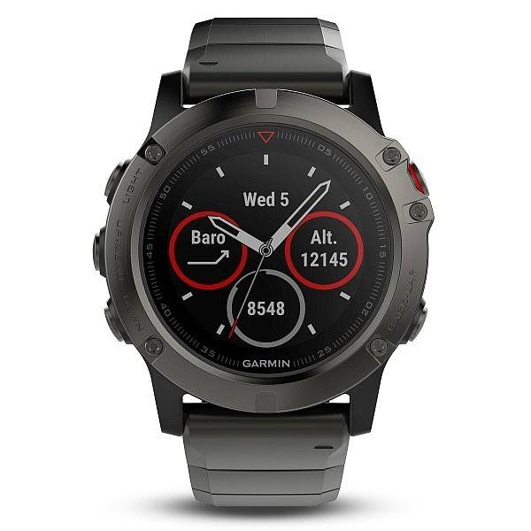 GPS hodinky Garmin Fenix 5X Sapphire (010-01733-03) šedé