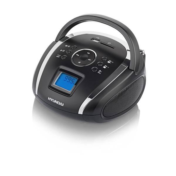 Rádioprijímač Hyundai TR 1088 SU3BS čierny/strieborný