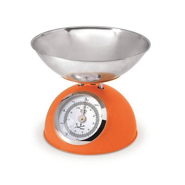Kuchyňská váha JATA 612NA nerez/oranžová (vrácené zboží 8800191528)