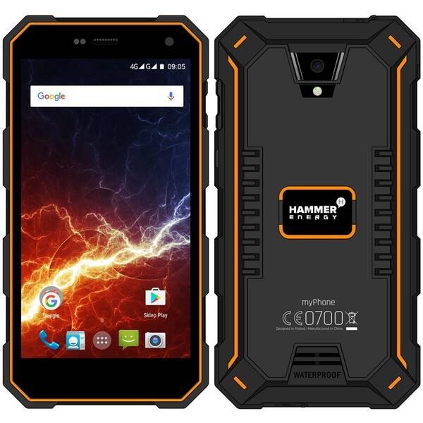 Mobilní telefon myPhone Hammer Energy LTE Dual SIM (TELMYAHAENEROR) černý/oranžový (vrácené zboží 8800402555)
