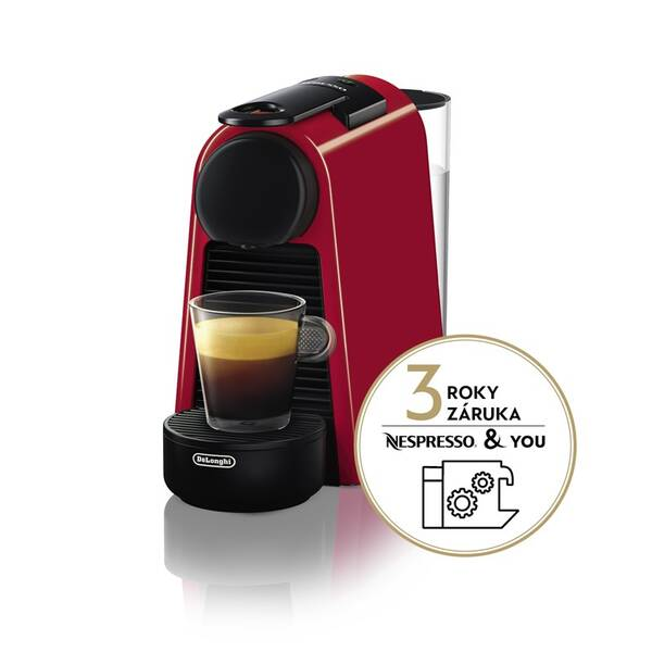 Espresso DeLonghi Nespresso Essenza Mini EN85.R červené