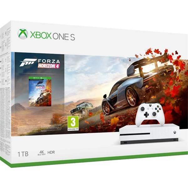 Herní konzole Microsoft Xbox One S 1 TB + Forza Horizon 4 (234-00561)