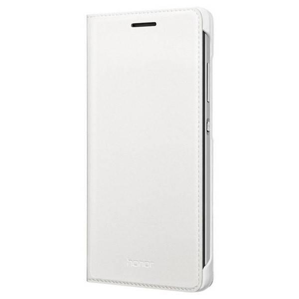 Pouzdro na mobil flipové Honor 7 Flip Cover (51991050) bílé (vrácené zboží 8800328837)