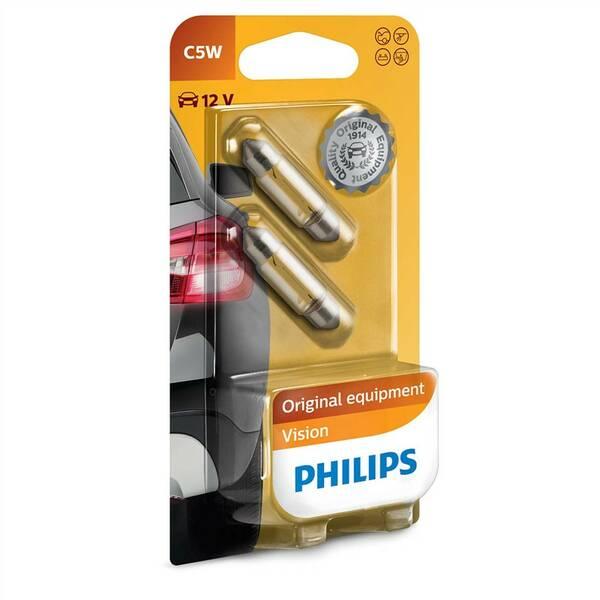 Autožiarovka Philips Vision C5W, 2ks (12844B2)