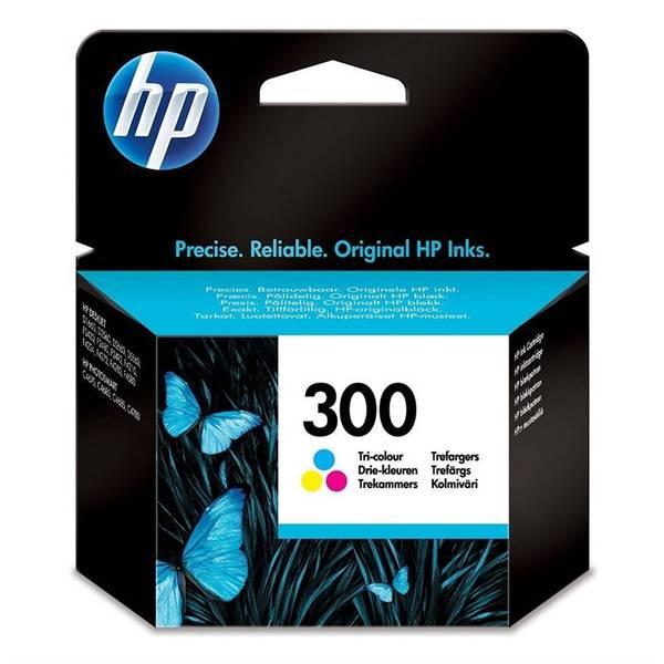 Inkoustová náplň HP No. 300, 4 ml, 165 stran, CMY - originální (CC643EE)