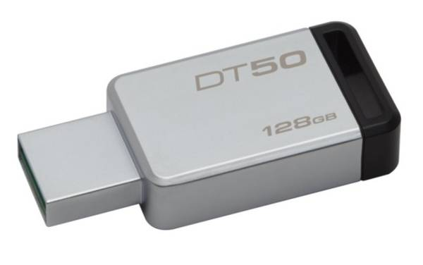 USB flash disk Kingston DataTraveler 50 128GB (DT50/128GB) čierny/kovový