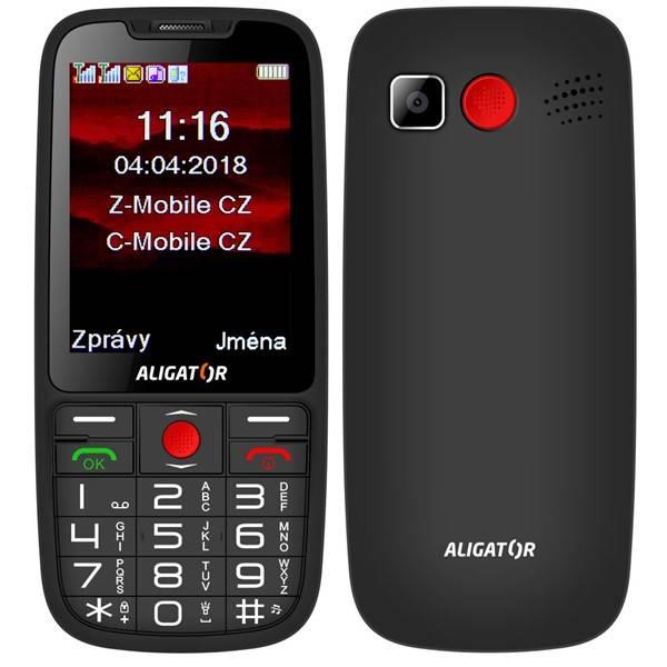 Mobilní telefon Aligator A890 Senior (A890BK) černý