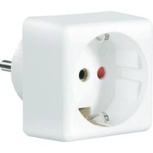 Cestovní adaptér CNR pro 150 zemí bílý