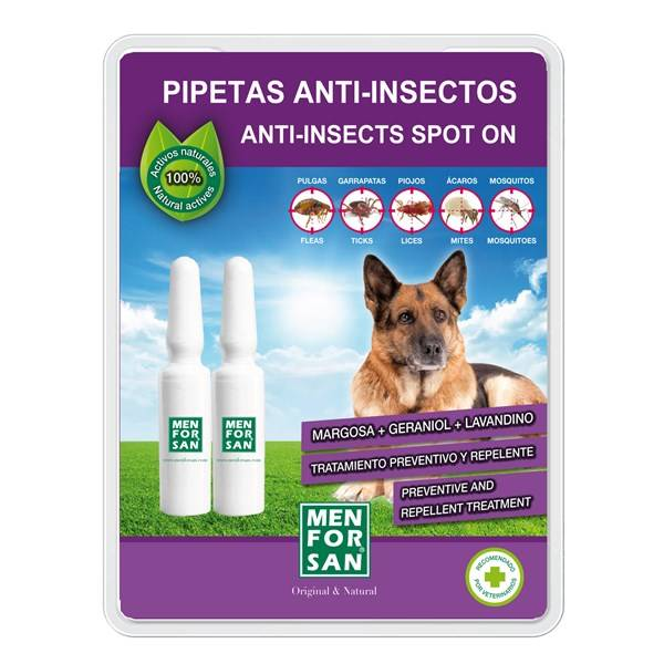 Pipeta Menforsan antiparazitní pipeta pro psy 2 x 1,5 ml