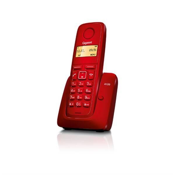 Domácí telefon Siemens Gigaset A120 (S30852-H2401-R604) červený