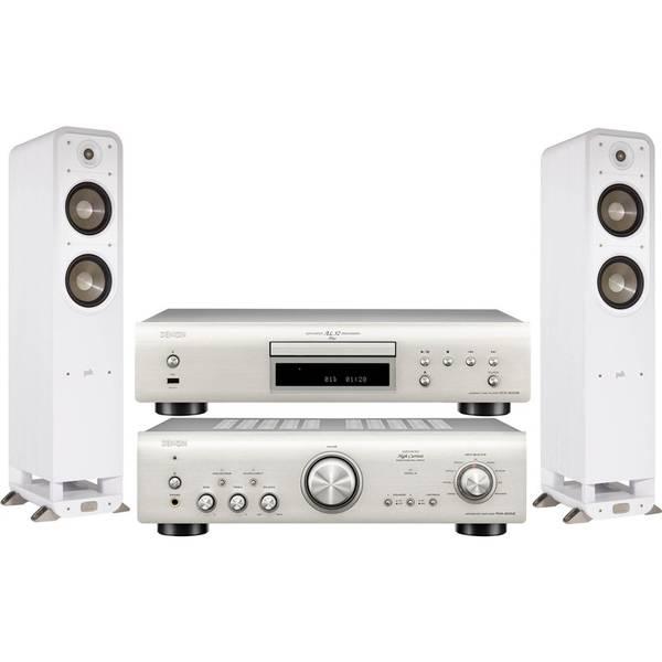 CD přehrávač Denon DCD-800NE + zesilovač PMA-800NE + set repro Polk Signature S55E stříbrný/bílý