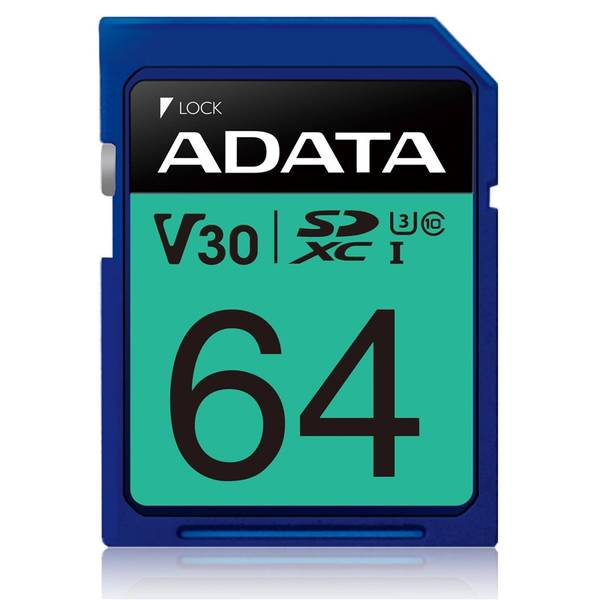 Paměťová karta ADATA Premier Pro SDXC 64GB UHS-I U3 (95R/60W) (ASDX64GUI3V30S-R)