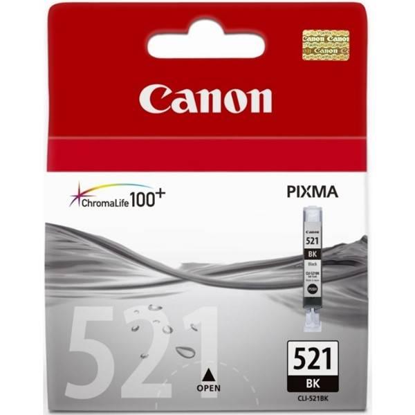 Inkoustová náplň Canon CLI-521Bk, 665 stran (2933B001) černá