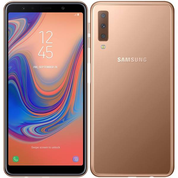 Mobilní telefon Samsung Galaxy A7 Dual SIM (SM-A750FZDUXEZ) zlatý