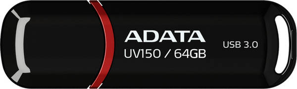 USB flash disk ADATA UV150 64GB (AUV150-64G-RBK) čierny