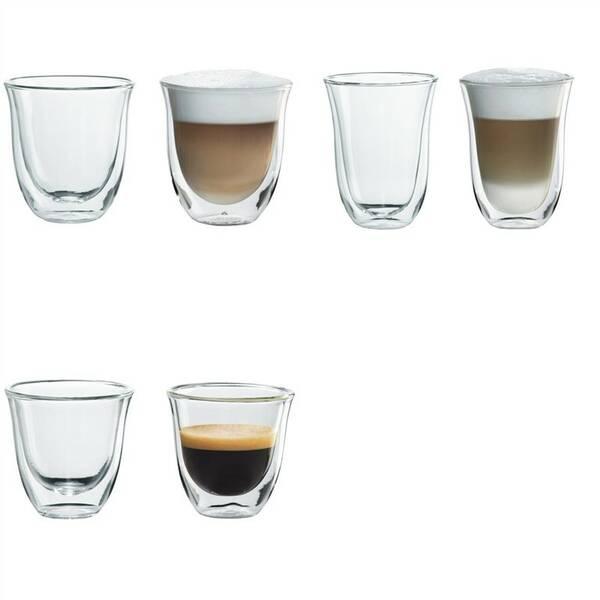 Příslušenství DeLonghi Set skleniček DeLonghi cappuccino + macchiato + espresso