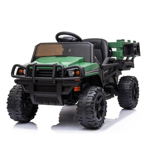 Elektrické auto MaDe s nákladním prostorem černo/zelené