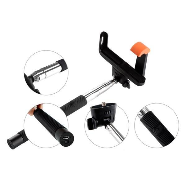 Selfie tyč GoGEN 2 teleskopická, bluetooth (GOGBTSELFIE2B) černá (Náhradní obal / Silně deformovaný obal 2300021475)