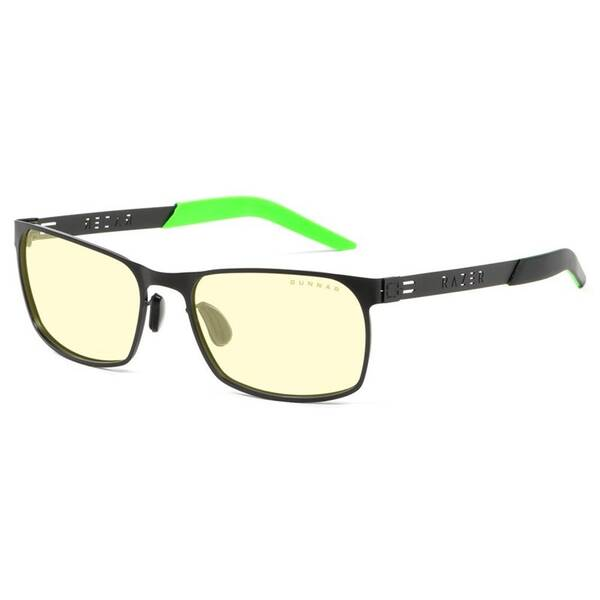 Herné okuliare GUNNAR Razer FPS Onyx, jantarová skla (RZR-30006) čierne