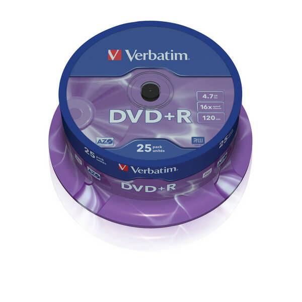 Disk Verbatim DVD+R 4,7GB, 16x, 25cake (43500)